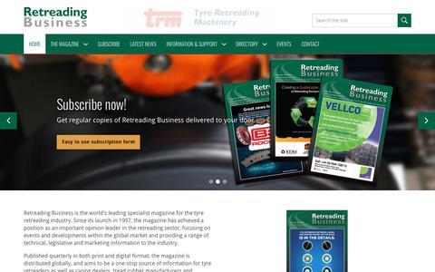 Screenshot of Home Page retreadingbusiness.com - Retreading Business - captured Oct. 18, 2018
