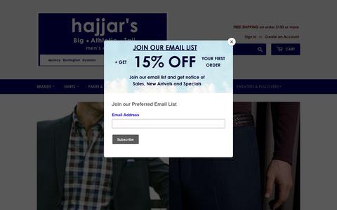 Screenshot of Home Page big-tall.com - Hajjar's Big & Tall Big-Tall.Com – Hajjar's Big & Tall Mens Clothing - captured Oct. 31, 2018