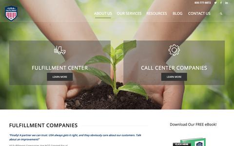 Screenshot of About Page usafill.com - Fulfillment Companies | USA Fulfillment - captured Oct. 18, 2018
