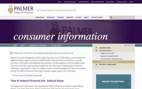 Consumer Information