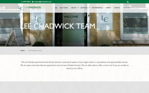 Screenshot of Team Page lee-chadwick.co.uk - Our Team | Lee Chadwick Solictiors - captured Sept. 27, 2018