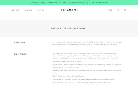 Privacy Policy | Tuft & Needle