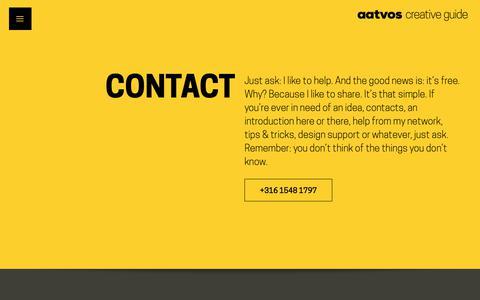 Screenshot of Contact Page aatvos.com - Contact - Aatvos - captured Nov. 6, 2018