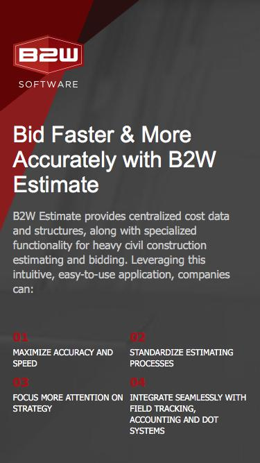 Bid Faster & More Accurately With B2W Estimate