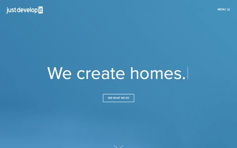 Screenshot of Home Page justdevelop.it - Just Develop It - captured Oct. 6, 2014