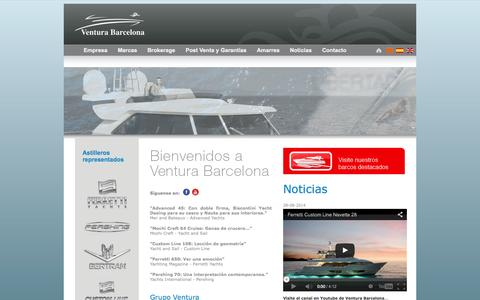 Screenshot of Home Page venturabarcelona.com - Ventura Barcelona - captured Sept. 30, 2014