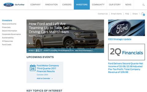 Screenshot of ford.com - Ford Motor Co. - captured Oct. 13, 2017