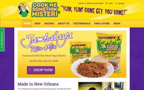 Screenshot of Home Page cookmesomethinmister.com - Cook Me Somethin' Mister - captured June 21, 2015