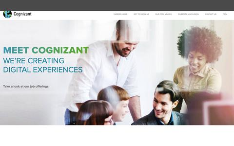 Screenshot of Jobs Page cognizant.com - Careers at Cognizant North America | Global Technology & IT Careers at Cognizant North America - captured July 2, 2018