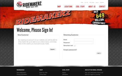 Screenshot of Login Page ridemakerz.com - Ridemakerz| Login - captured Sept. 17, 2014