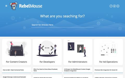 Screenshot of Support Page rebelmouse.com - RebelMouse Support - captured Dec. 5, 2019