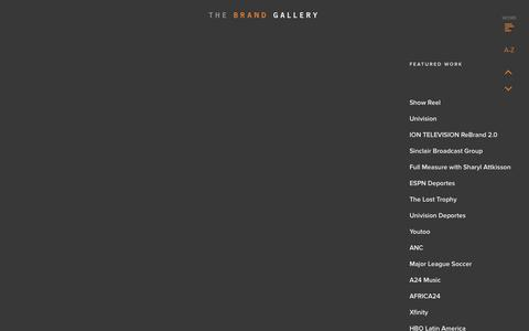 Screenshot of Home Page thebrandgallery.com - THE BRAND GALLERY - captured Feb. 23, 2016