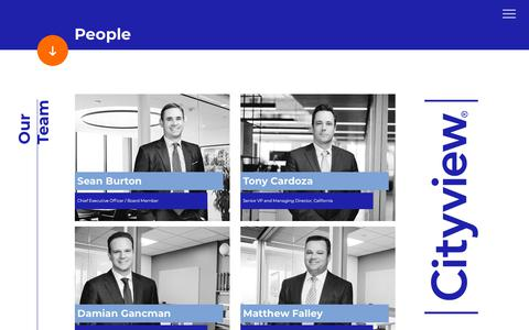 Screenshot of Team Page cityview.com - People - cityview - captured July 18, 2018