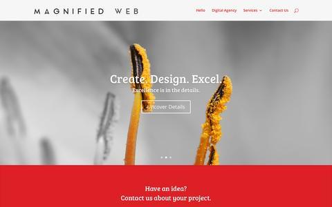 Screenshot of Home Page magnifiedweb.com - Riverside Strategic Digital Agency | Magnified Web - captured Sept. 17, 2015