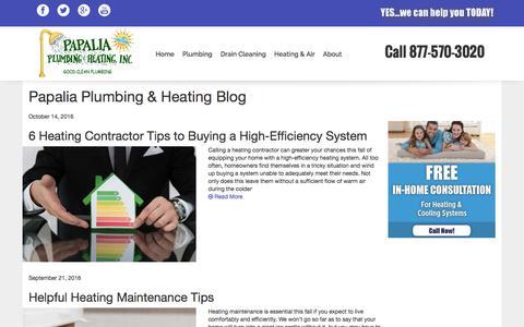 Screenshot of Blog papaliaplumbing.com - Blog - Papalia Plumbing & Heating - captured Oct. 19, 2016