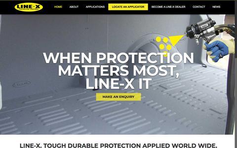 Screenshot of Home Page line-x.co.uk - LINE-X Polyurea Supplies | Contractors | Applicators | LINE-X UK - captured Sept. 25, 2018