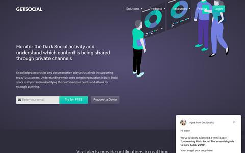 Screenshot of Support Page getsocial.io - Agna says… - captured Sept. 23, 2018