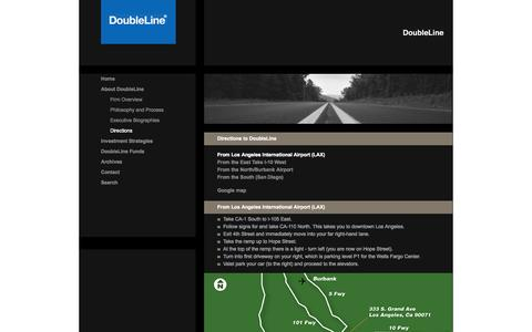 Screenshot of Maps & Directions Page doubleline.com - Directions to DoubleLine - captured Oct. 5, 2014