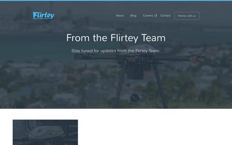 Screenshot of Blog flirtey.com - Blog | Flirtey - captured Aug. 4, 2016
