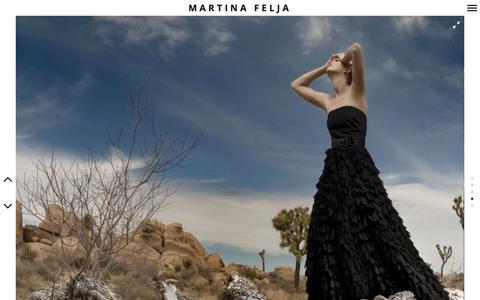 Screenshot of Home Page felja.com - Martina Felja - captured Sept. 30, 2014