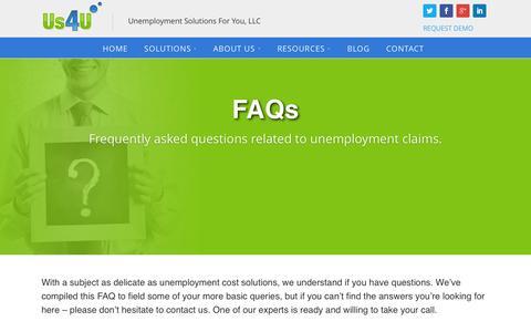 Screenshot of FAQ Page us4u.us - FAQs - US4U - captured Feb. 16, 2016