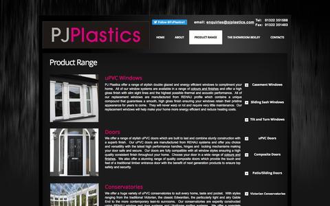 Screenshot of Products Page pjplastics.com - PJ Plastics -  Product Range - captured July 10, 2016