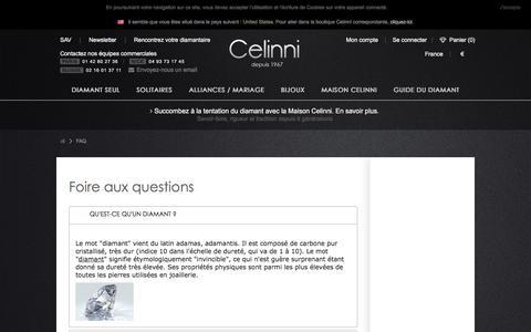 Screenshot of FAQ Page celinni.com - FAQ - captured July 16, 2018