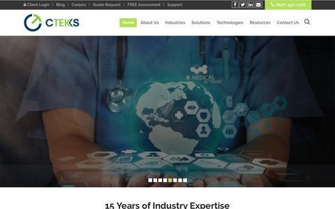 Screenshot of Home Page cteks.com - CTEKS – IT Solutions - captured July 3, 2018
