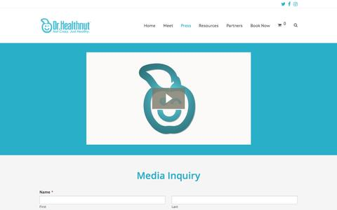 Screenshot of Press Page drhealthnut.com - Press – Dr. Healthnut - captured May 11, 2017