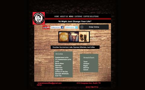Screenshot of Menu Page briansbrew.com - Menu - captured Oct. 5, 2014