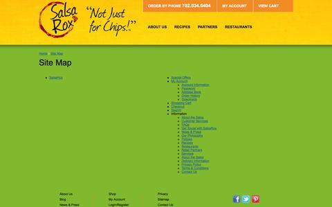Screenshot of Site Map Page salsarox.com - Site Map - captured Oct. 27, 2014