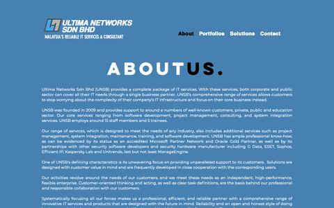 Screenshot of About Page unsb.com.my - ULTIMA NETWORKS | About - captured Nov. 18, 2018