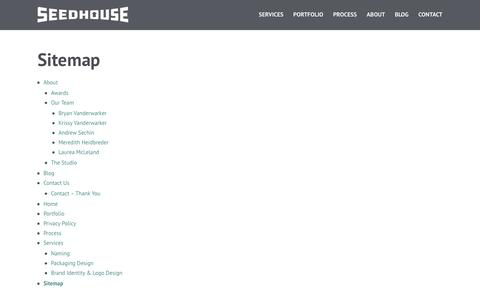 Screenshot of Site Map Page seed-house.com - Sitemap | Seedhouse - captured Feb. 22, 2016