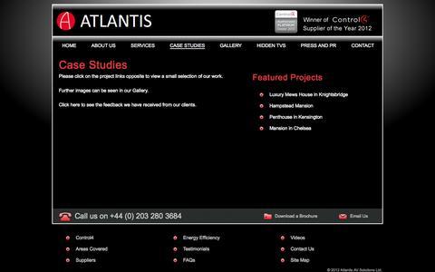 Screenshot of Case Studies Page atlantisavsolutions.com - Case Studies | Atlantis AV - captured Oct. 4, 2014