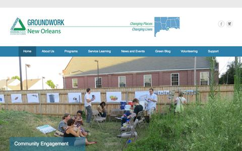 Screenshot of Home Page Menu Page groundworknola.org captured Sept. 30, 2014
