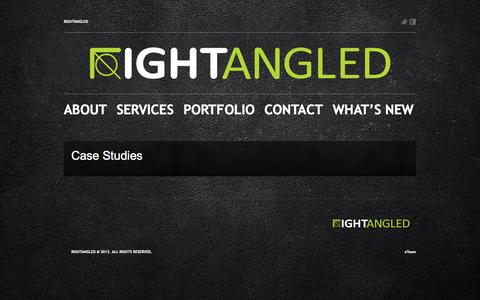 Screenshot of Case Studies Page rightangled.pk - Case Studies  |  Rightangled - captured Oct. 7, 2014