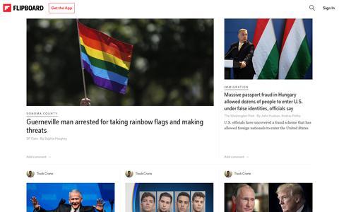 Screenshot of Press Page flipboard.com - News on Flipboard - captured May 13, 2018