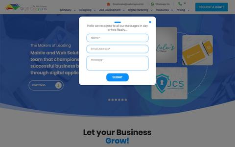 Screenshot of Home Page webcrayons.biz - Web Marketing Agency | Best SEO Company in India - Web Crayons - captured Oct. 11, 2018