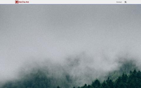 Screenshot of Home Page mecha.me - Home - Mecha.Me - captured Oct. 6, 2014