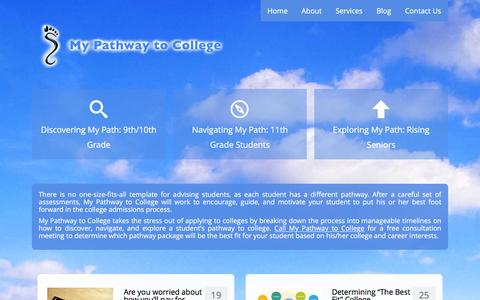 Screenshot of About Page mypathwaytocollege.com - My Pathway To College Đ college consulting services - captured Jan. 11, 2016