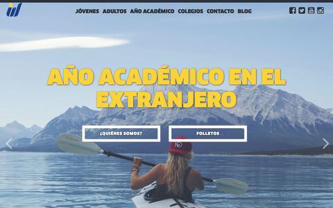 Screenshot of Home Page interway.es - Interway. Cursos de idiomas en el extranjero. Primera empresa del sector certificada en España - captured Sept. 19, 2018