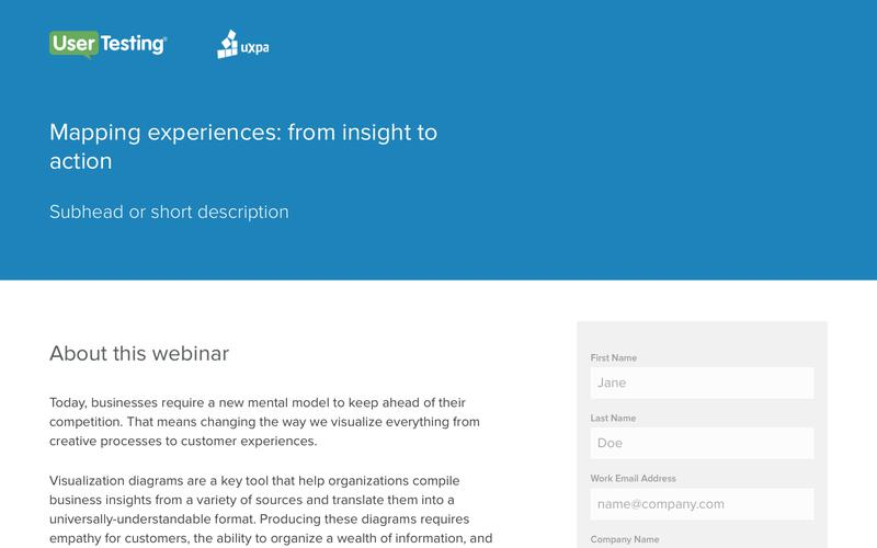 OnDemand Webinar - Mapping experiences: from insight to action | UserTesting