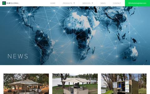 Screenshot of Press Page elwglobal.com - ELW News & projects throughout Africa & the Middle East - captured July 14, 2018