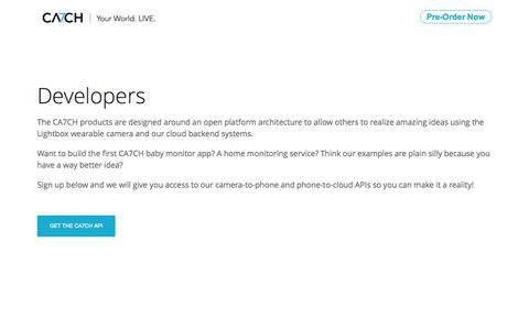 Screenshot of Developers Page ca7ch.com - CA7CH - captured Sept. 22, 2014