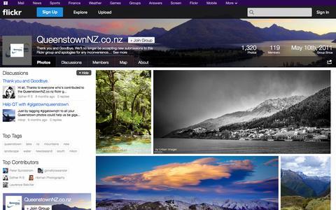 Screenshot of Flickr Page flickr.com - Flickr: The QueenstownNZ.co.nz Pool - captured Oct. 23, 2014