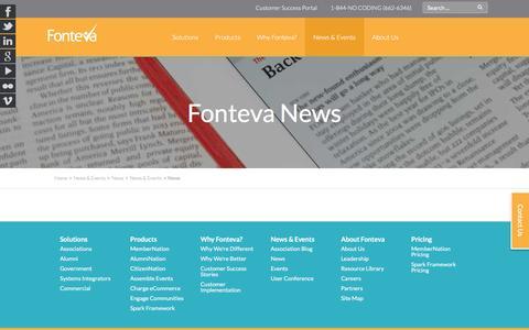 Screenshot of Press Page fonteva.com - Fonteva News - captured Nov. 22, 2016