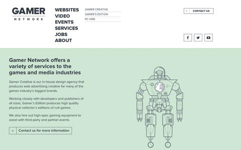 Screenshot of Services Page gamer-network.net - Services - Gamer Network - captured March 2, 2018