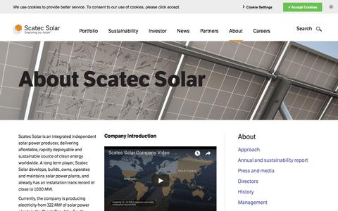 Screenshot of About Page scatecsolar.com - About | scatecsolar.com - captured July 27, 2018