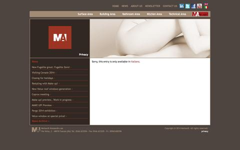 Screenshot of Privacy Page meinardi.it - Privacy | Meinardi - captured Oct. 27, 2014