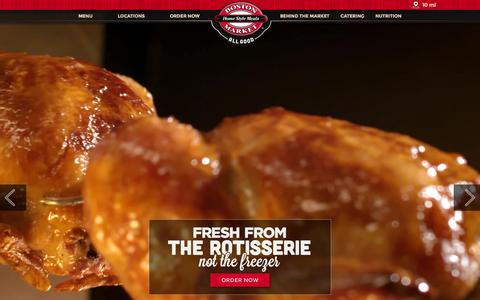 Screenshot of Home Page bostonmarket.com - Rotisserie Chicken & Local Catering - Boston Market - captured Sept. 13, 2015